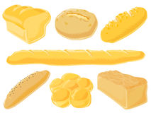 面包食物集 免版税库存图片