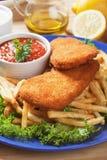 面包鱼炸薯条 免版税库存照片