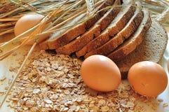 面包鸡蛋 免版税库存图片