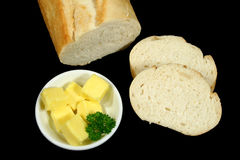 面包黄油 库存图片