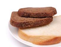 面包黑麦白色 免版税库存照片