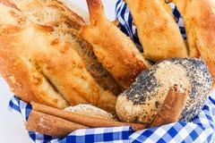面包,乳酪面包,种子面包 免版税图库摄影