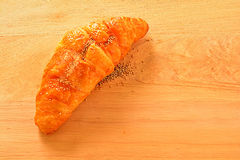 面包,新月形面包 库存图片