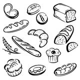 面包,早餐 库存例证
