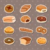 面包贴纸 免版税库存图片