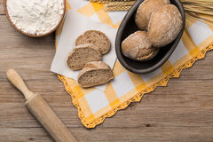 面包黑麦小尖峰 库存图片