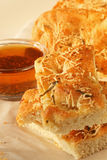 面包focaccia油 图库摄影