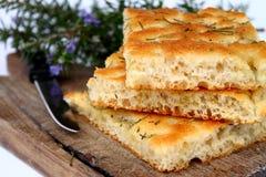面包focaccia 免版税库存照片