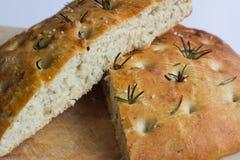 面包foccacia意大利语 图库摄影