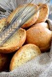 面包Freselle在大袋的 免版税库存照片
