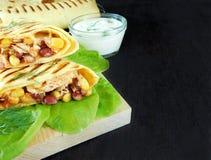 面卷饼 墨西哥盘 免版税库存图片