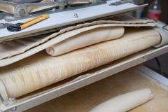 面团分切器和铸工机器 库存图片