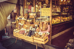 面团商店在托斯卡纳 免版税库存照片