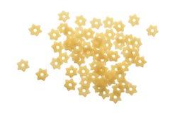 面团在白色背景隔绝的星形状 顶视图 平的位置 免版税图库摄影