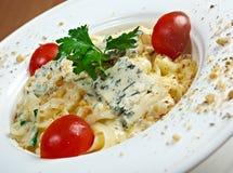 面团意大利细面条用食家乳酪 图库摄影