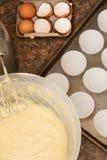 面团成份厨房器物 图库摄影