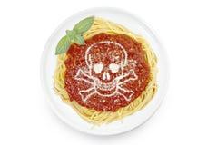 面团盘用以头骨的形式帕尔马干酪 免版税库存照片