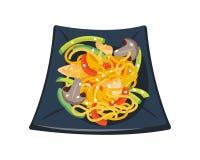面团西红柿酱用用荷兰芹碗装饰的蘑菇蕃茄隔绝了早餐健康食物热可口 库存图片