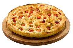面团Focaccia。意大利食物 免版税图库摄影