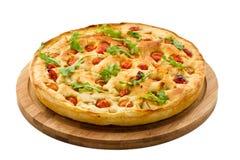 面团Focaccia。意大利食物 库存图片