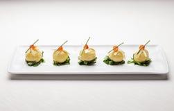 意大利美好的用餐的开胃菜 免版税库存图片