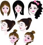 面孔妇女 免版税库存图片