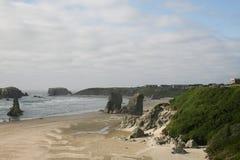 面孔岩石在Bandon,俄勒冈,美国 库存图片