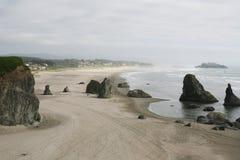 面孔岩石在Bandon,俄勒冈,美国 库存照片