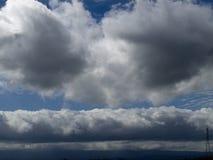 面孔形状云彩 库存图片