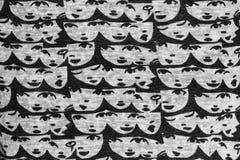 面孔样式织品 库存照片
