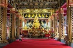 面孔澳大利亚Bouddha (Wat帕纳在的清迈- Thaïlande) 免版税库存照片