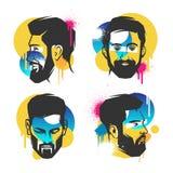 面孔的创造性的概念 向量例证