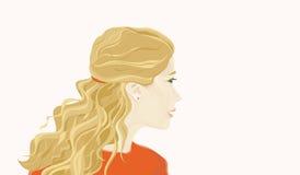 面孔金发碧眼的女人女孩 免版税库存照片