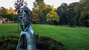 面孔雕塑 免版税库存照片