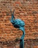 头/面孔雕塑 库存照片