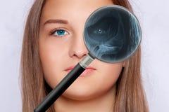 面孔,眼科学射线照相  图库摄影