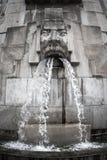 面对喷泉,米兰Centrale驻地,米兰,意大利 库存图片