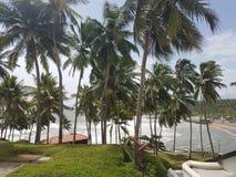面对室的海在Leela旅馆科瓦兰,喀拉拉里 免版税图库摄影