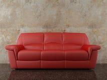 面对死墙的长沙发 向量例证