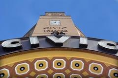 面对的奥克兰民事剧院-新西兰 免版税库存图片