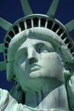 面对自由雕象 免版税库存图片