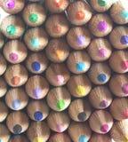 面对转接铅笔的着色 免版税库存图片