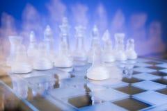 面对面的棋,第一步 复制文本的空间 库存图片