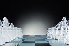 面对面的棋,第一步 复制文本的空间 免版税图库摄影