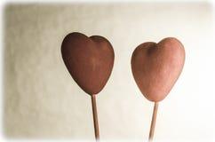 面对Eachother的两心脏 免版税库存图片