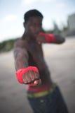 面对kickboxing 库存图片