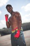 面对kickboxing 免版税库存图片