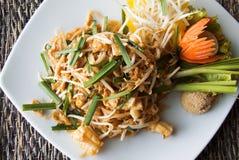 面条填充泰国 泰国食物为旅客是著名的 免版税库存照片