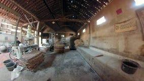 面条工厂在班图尔,日惹,印度尼西亚 股票视频