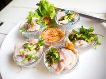 面条泰国猪肉的样式 库存照片